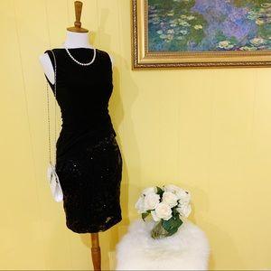 Ralph Lauren Black sequence dress